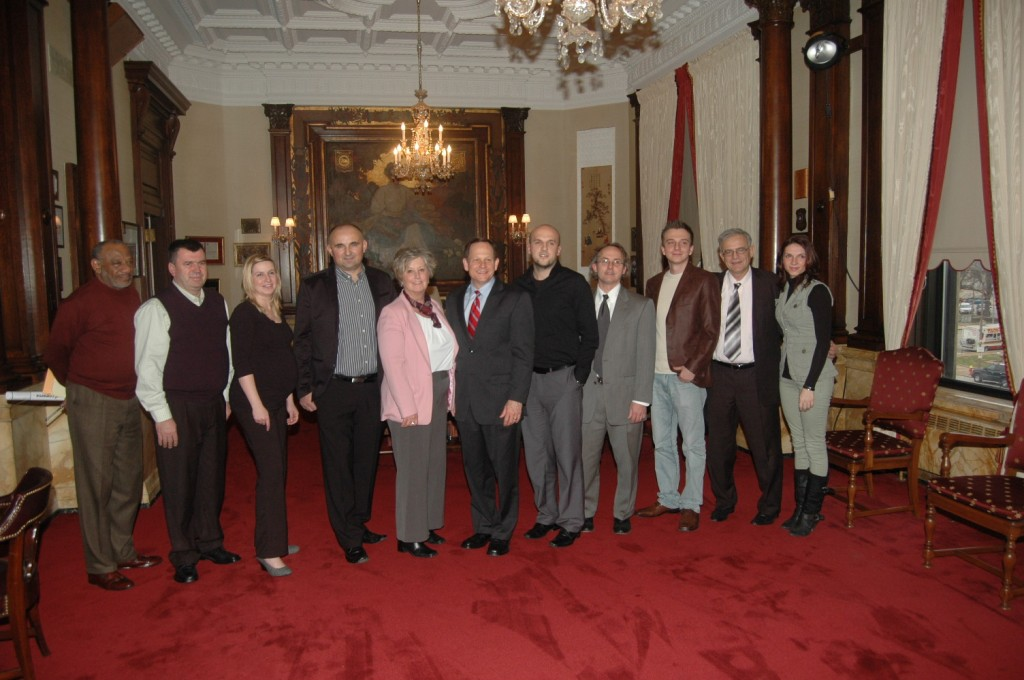The Bosnian community representatives with mayor Slay